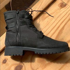 Black Timberland Combat Boot